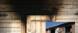 Около печи или камина сажа оседает на потолок и стены.