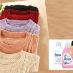 - следует помнить, что шерсть стирается отдельно от других видов ткани;