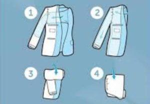 подготовка к складывании, заключается в предварительной стирке и проглаживании