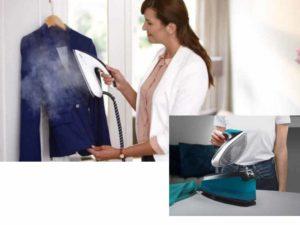 Паром можно обрабатывать натуральные, синтетические ткани, не боясь, что подошва утюга прилипнет к ткани или на ней образуются подпалины.