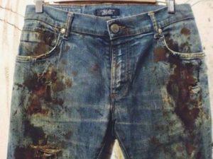 Как избавиться от ржавых пятен на одежде?