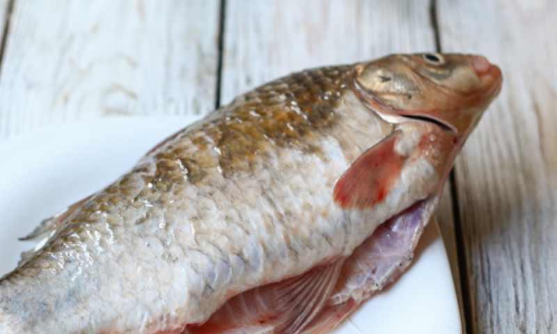 Рыбу нужно вымыть в воде