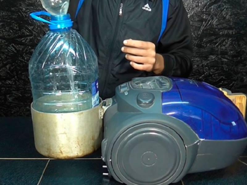 Водяной фильтр – в нем пыль захватывается вместе с водой
