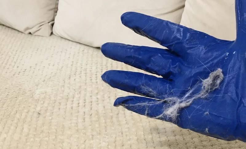 перчатка в шерсти